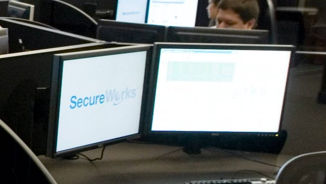 SecureWorks security operations center on July 2, 2010, in Atlanta. Analysts at the company worked on the investigation into last year's cyber attack that took down websites in the U.S. and South Korea.
