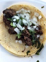 A barbacoa taco from Carniceria Monterrey in Fort Myers.