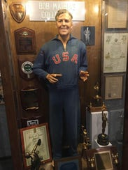 Above: Bob Mathias Olympic memorabilia on display at