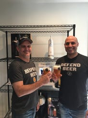 David McDonald (left) with Fizzics co-founder Philip