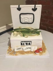 Stephanie Rutkowski created a custom groom's cake for