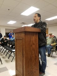 Mark Weiss owner of Half-Time Sports Grille spoke during
