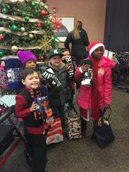 First-graders from Botsford Elementary in Livonia walked