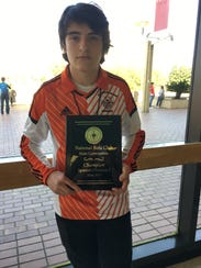 Antonio Quiroz won first place in the Spanish 1 test