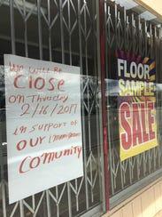 Muchos negocios en Salinas cerraron el jueves, 16 de