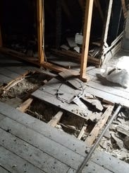There was a fire in the attic and other damages.