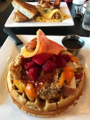 Chicken and waffles are a standout brunch item at The