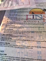 The menu at FINS covers a lot of territory, but the