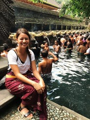 PDN reporter Chloe Babauta visits the Holy Spring Water