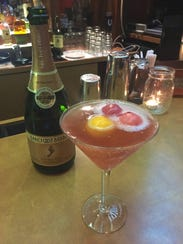 Bar owner Charlie Trejo makes a Sparkling Sorbet at