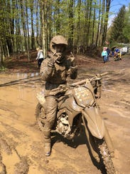 LaGrange's Andrew Povall completed a muddy course in