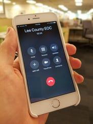 Lee County EOC phone call