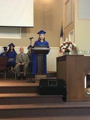 Tabernacle Christian Academy salutatorian Beikai Li