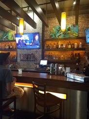 The bar offers an urban feel at Craft Tacos and Tequila.