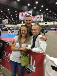 Natalie Hershberger celebrates her USAT national championship