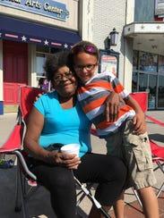Raynette Hughes poses with her great-grandson, Tajon