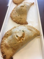 Savory handpies, in this case Buffalo Chicken Handpies,