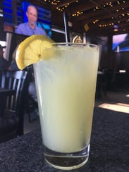 A glass of fresh-squeezed lemonade from Bigfoot Bacon
