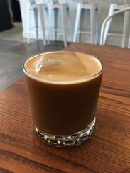 The Vegan, made with espresso, almond milk, ginger