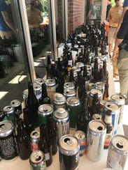 Some of the empties after the morning round of judging