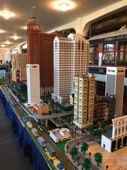 A Lego city created by the Michigan LEGO Users Group