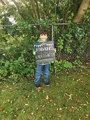 Judah Hossain, kindergarten at Crull Elementary