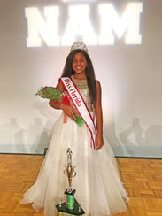 Jazmyne Pledger after she was crowned National American