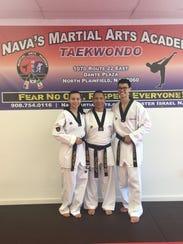 Left to right: Portia Rowley, Master Israel Nava and