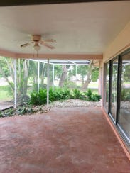 The Learys' refinished lanai two days before Hurricane