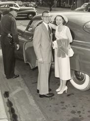 Newlyweds Wallie and Rosemary Christman in 1952.