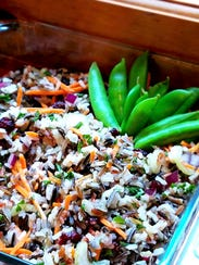 Whole grains, veggies and fruit combine to make a wonderful