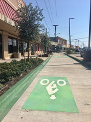 Barksdale Boulevard now offers designated bicycle lanes.