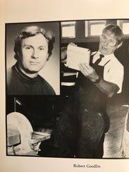 A photo of Robert Goodlin, an industrial arts teacher, in the 1990 Secaucus High School Yearbook.
