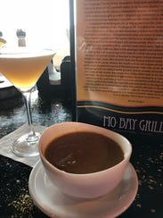 Mo-Bay Grill Pumpkin Bisque and Pear Ginger Martini.