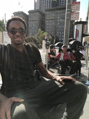 Justin Harris, 21, who was first in line at Apple's