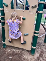 A playground area at Sam Houston Jones State Park in