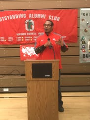 Former Ohio State running back Michael Wiley speaks
