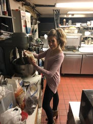 Dana Dewedoff prepares her cookie batter. The Cinnaminson