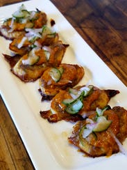 Chef Wanphen McDonald's Thai crostini are rounds of
