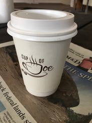 A coffee cup from Cup of Joe in Cedar City.