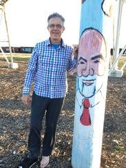 Steve Miller, an artist who lives in the Moon City