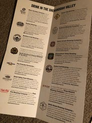 The new Shenandoah Beerwerks Trail beer passports.