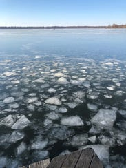 Duck hunters were able to break up some of the ice