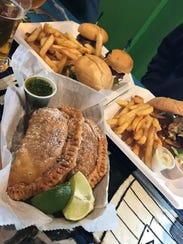A recent lunch at Intruck Coastal also featured empanadas,