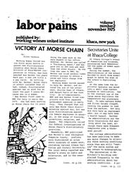A scanned copy of Labor Pains, a newsletter distributed
