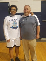 Matthew with his coach, Grayson Standiford.