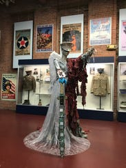 Another fashion statement, made out of plastic bags and other recyclable items, part of the Eco-Chic exhibit last fall at the Paterson Museum.