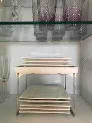 Shelf dividers offer a simple and inexpensive solution
