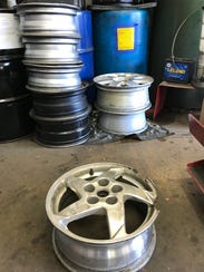 These rims, at Best One of Indy at 2646 E. 62nd St.,