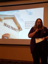 Ashley Bradford, of the Noah Projects, gives a presentation